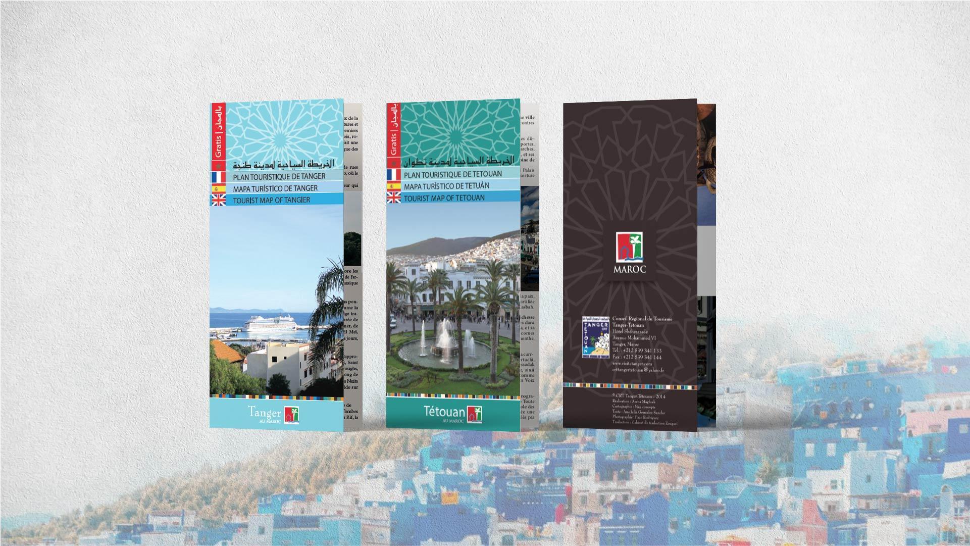 Présentation | la carte de les villes Tanger et Tétouan - map-concepts Agence Communication de Tanger