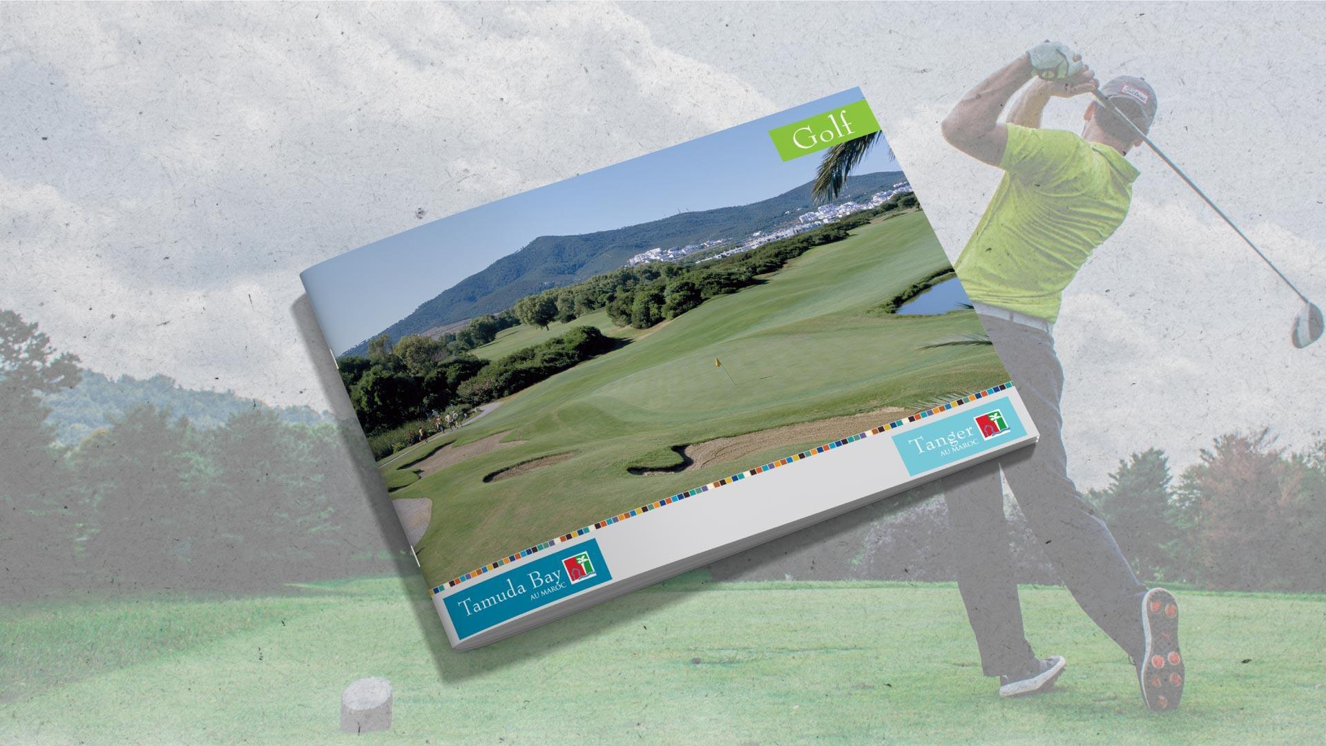 Présentation de Brochure | Golf- Tanger - map-concepts Agence Communication de Tanger