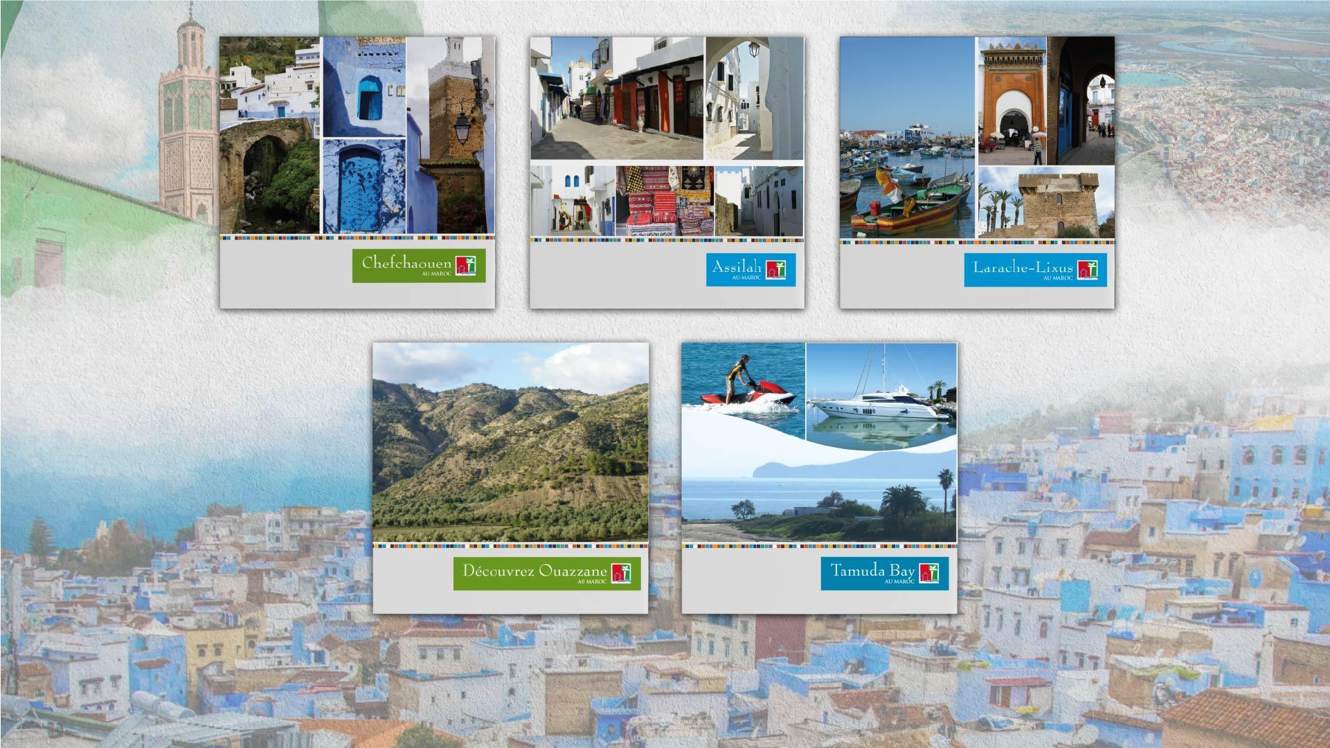 Présentation des plaquettes - map-concepts Agence Communication de Tanger